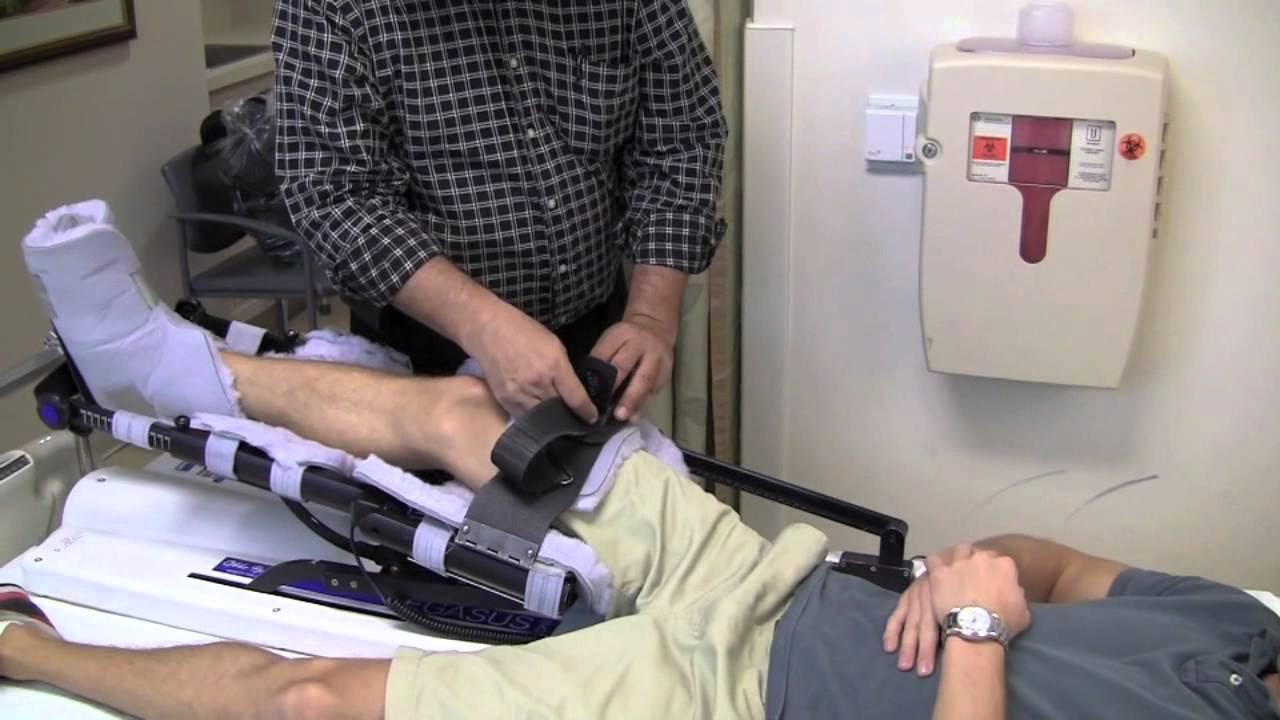 knee surgery recovery machine