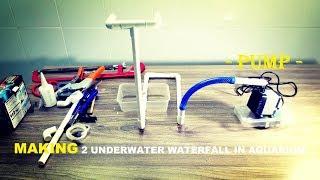 How to Make 2 Underwater waterfall in Aquarium (DIY detail)