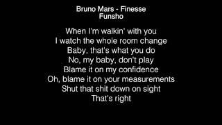 Funsho - Finesse Lyrics (Bruno Mars) The  Voice