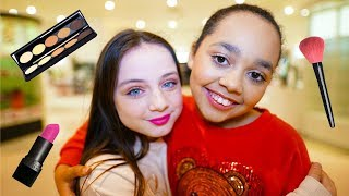 TIANA'S FULL FACE KIDS MAKEUP TUTORIAL!!