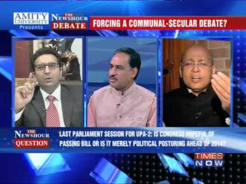 The Newshour Debate: Communal violence bill debate - Full Debate (5th Dec 2013)