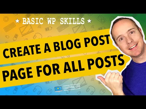 WordPress Blog Page - Create A Separate Page To Display All Blog Posts| WP Learning Lab