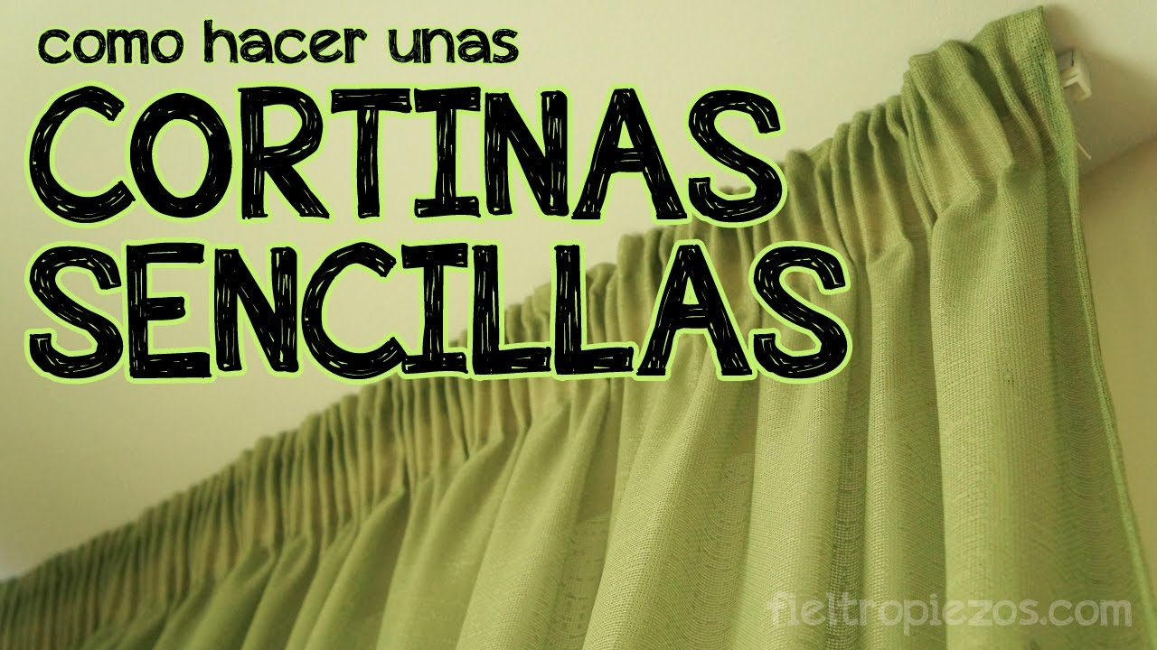C mo hacer unas cortinas sencillas youtube for Telas para cortinas de salon