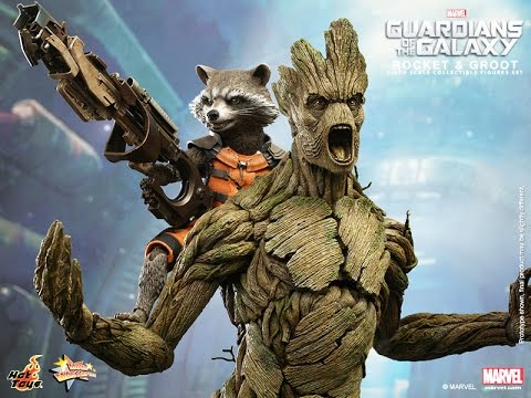 Hot Toys Rocket Raccon and Groot Action Figure Images Revealed