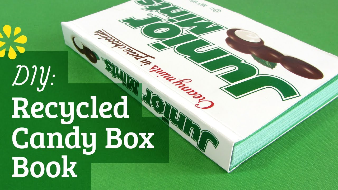 How To Make A Book Box : How to make a book softcover recycled box youtube