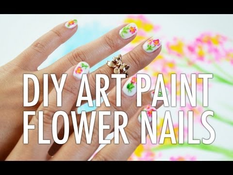 DIY Artist Paint Floral Nail Art