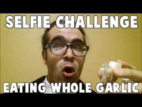 The Selfie Challenge: Eating Whole Garlic *YOU WILL LAUGH* #GlobalSelfie  #EarthDay (EP 40)