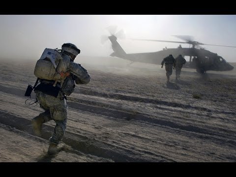 US ARMY And MARINES Working togehter in Afghan