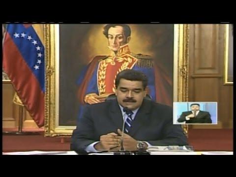Presidente Nicolás Maduro ofrece rueda de prensa con medios internacionales
