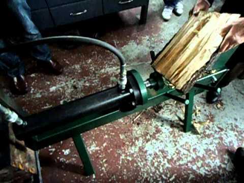 Astilladora de leña hidraulica casera