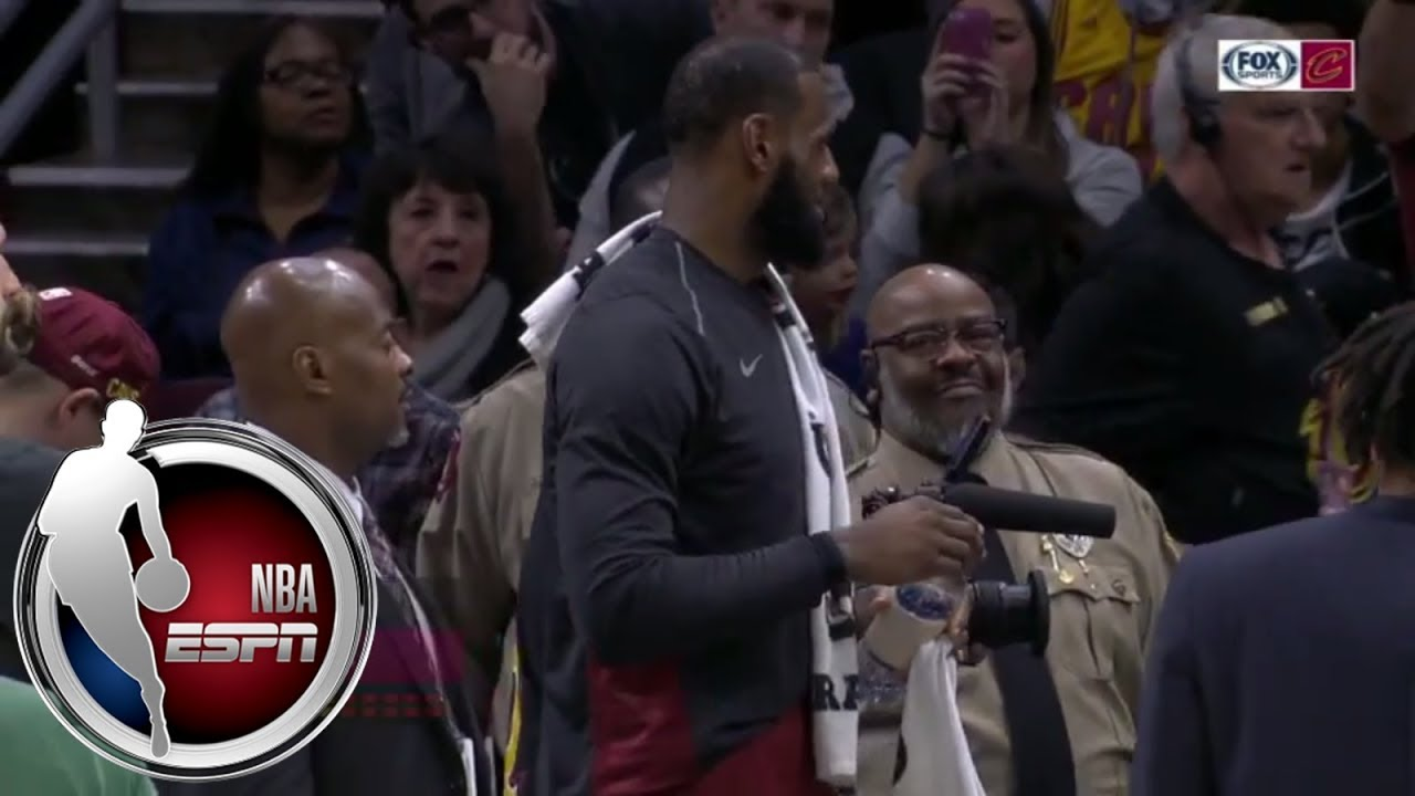 LeBron James gets candy for his daughter midgame | ESPN