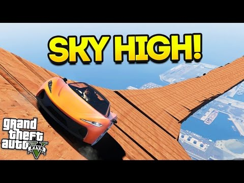 EPIC SKY HIGH RACE!! (GTA 5 Funny Moments)
