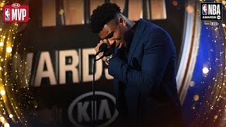 Giannis Antetokounmpo Gets EMOTIONAL During Kia MVP Speech | 2019 NBA Awards