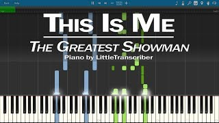 The Greatest Showman This Is Me Piano By Littletranscriber