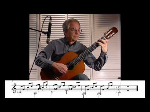 Matteo Carcassi Prelude in C major Op 59 from A Beginner's Guide to the Classical Guitar (#10 of 77)