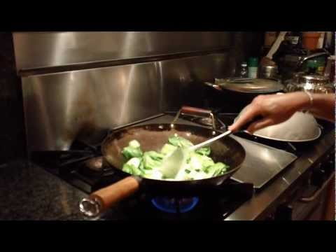 How to stir fry baby bok choy- chinese restaurant style