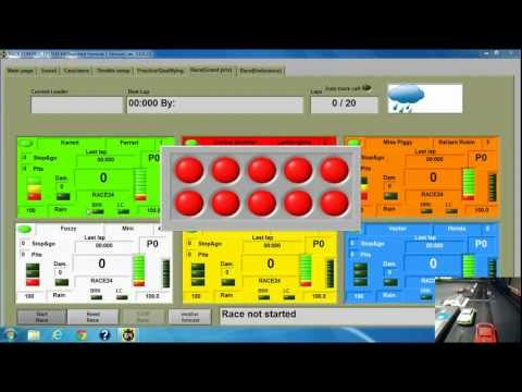 Andy wallace 39 s ssdc software at work for scalextric digital with powerbase pro nascar race - Scalextric sport digital console ...