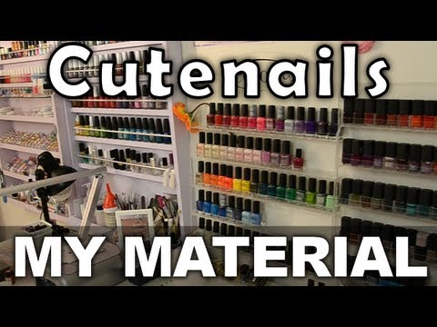 Cute Nails nail art material Room Tour !