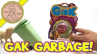 Smell My GAK, Garbage Scented Fun! Nickelodeon Toys - Butch gets GAKKED!