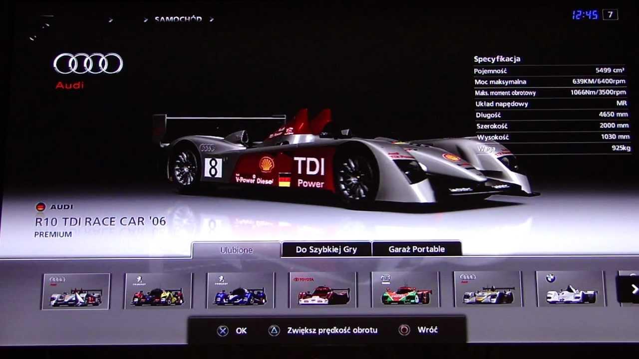 Gran turismo 5 audi r10 tdi race car 06 5