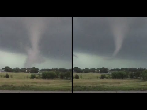Twister incoming: Moment tornado rips through suburbs in Texas