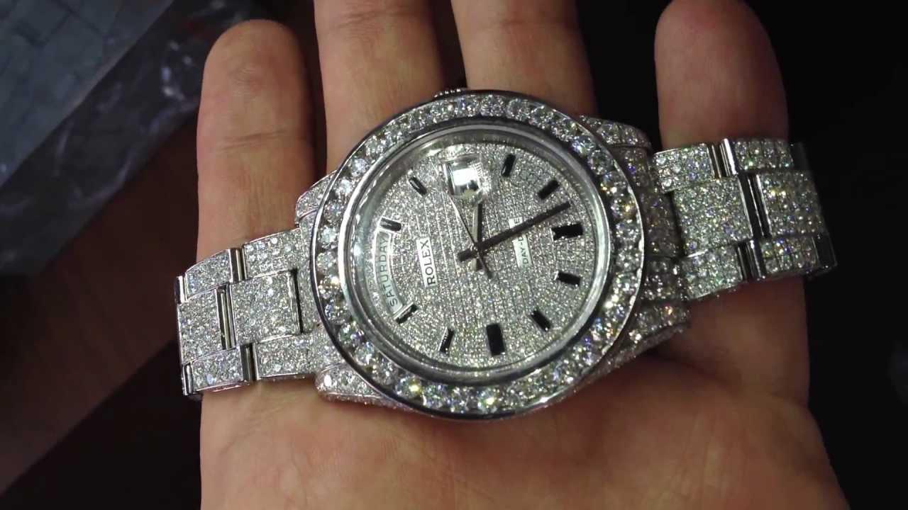 Mens diamond rolex watches
