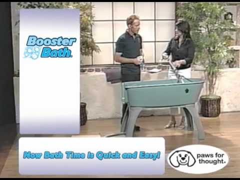 Elevated Plastic Dog Bath Tub The Booster Bath Youtube