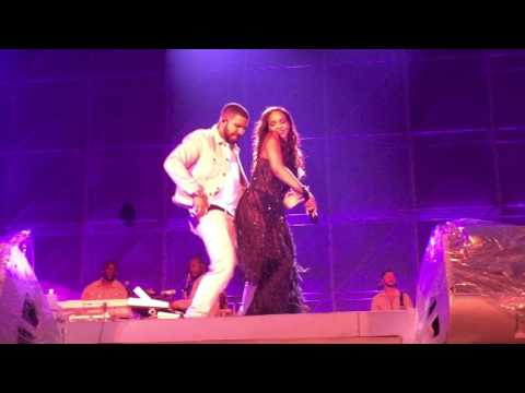 Rihanna and Drake performing 'Work' Live at Manchester Stadium ANTI World Tour 29/06/16