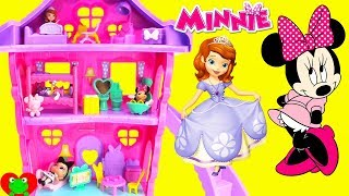 Disney Minnie Mouse Bow Sweet Home Sleepover Party With Princess Sofia the First Learn Furniture