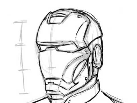 Ironman Helmet Drawing Simple Way to Draw Ironman