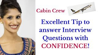 How to answer interview questions? Cabin Crew / Flight Attendant/ Singapore Airlines