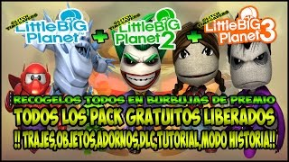 LITTLEBIGPLANET FULL | FREE PACKS | TIMESAVERS