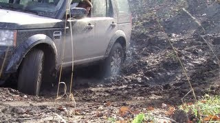 Land Rover Discovery 4. Off road micro-test in Kaluga