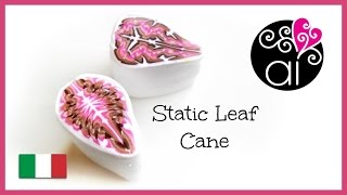 Static Leaf Cane | Tutorial Murrina Foglia | Polymer Clay Cane DIY
