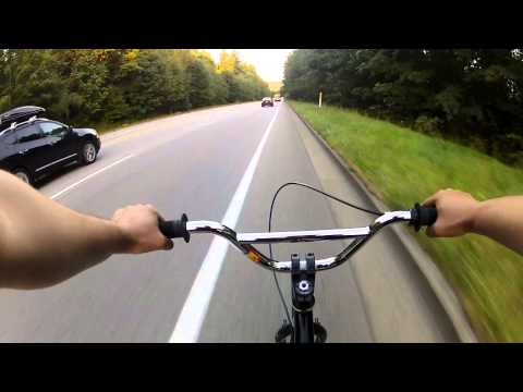 BMX High Speed Street Down Hill (SFU, Burnaby BC Canada)