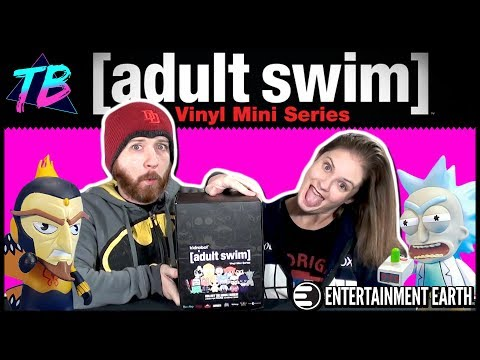Unboxing Adult Swim Kidrobot Blind Box Case from Entertainment Earth!