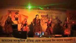 Bimurto performing a folk dance at Banglalink Amm utsob