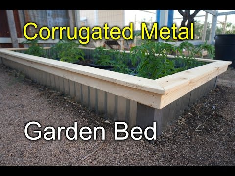 Corrugated raised beds for my garden - New Style!