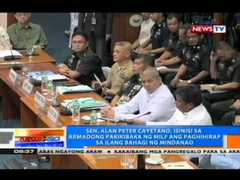 Sinseridad ng MILF sa peace talks at pananagutan sa engkwentro, tinalakay sa pagdinig sa Senado