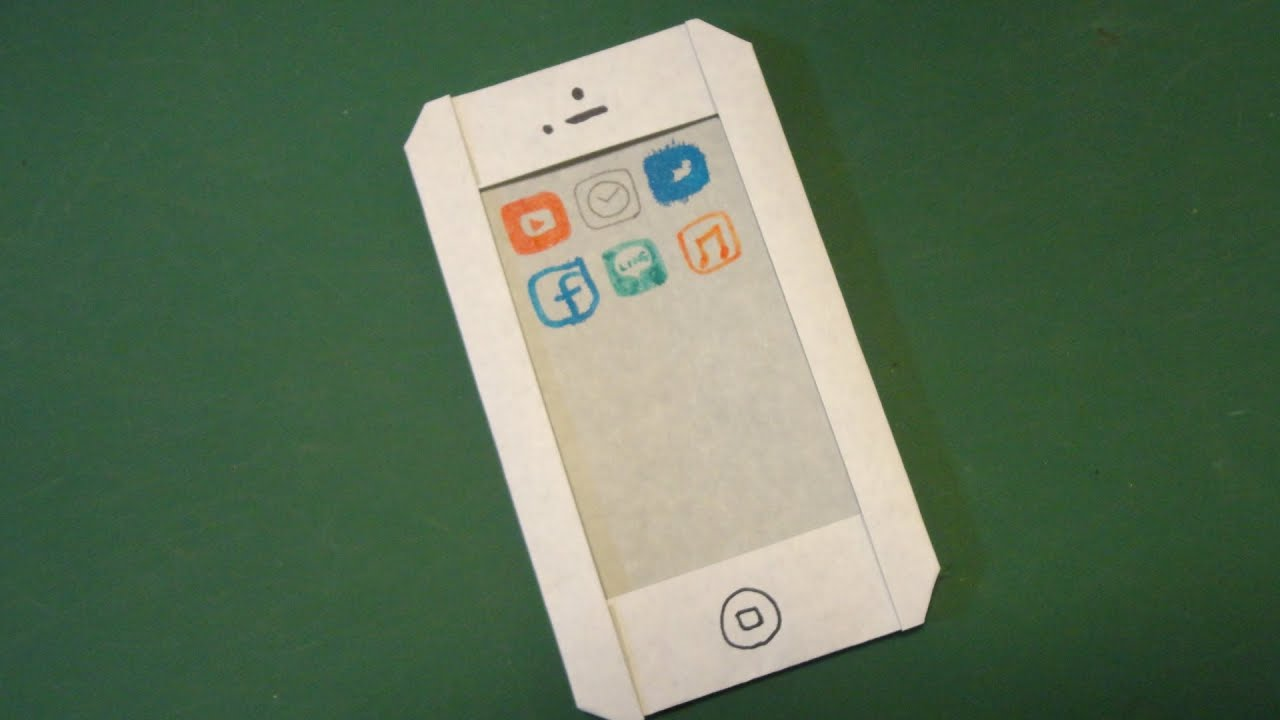 ǰ�単!「スマホ」折り紙easy Quot Smart Phone Quot Origami Youtube