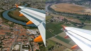 Microsoft Flight simulator X vs Reality in a landing at Pisa