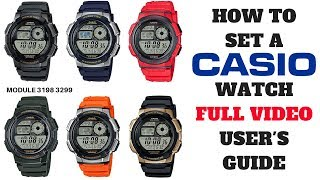 HOW TO SET A CASIO WATCH FULL VIDEO USER