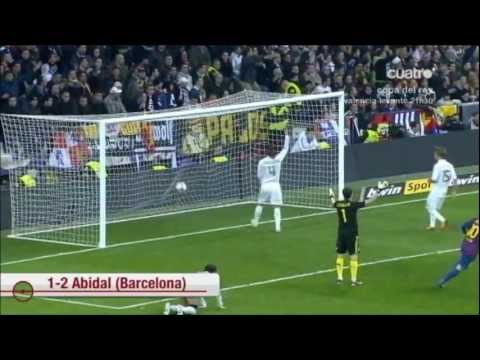 Real Madrid vs  FC Barcelona   1 - 2  Copa del rey ida  18/01/2012