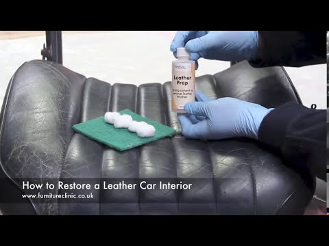 how to restore a leather car interior youtube. Black Bedroom Furniture Sets. Home Design Ideas