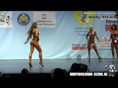 World Championships 2012 - Women's Bikini Fitness up to 163cm round I