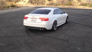 Audi B8.5 S5 3.0T AWE Track Exhaust w/ Non-Resonated Downpipes