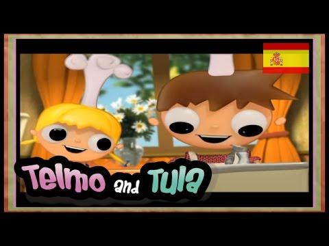 Telmo y Tula - Macedonia de Frutas- recetas postres  para niños, dibujos animados