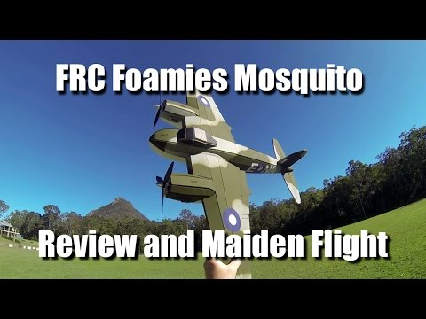 FRC Foamies de Havilland Mosquito - Review and Maiden