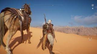 Assassin's Creed: Origins - Great Sand Sea - Open World Free Roam Gameplay (PC HD) [1080p60FPS]