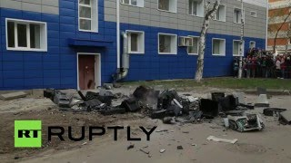Meanwhile in Russia…. Students throw TV sets & fridges out of windows to break Guinness world record